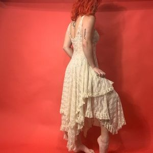 FREE PEOPLE INTIMATES WHITE LACE DRESS